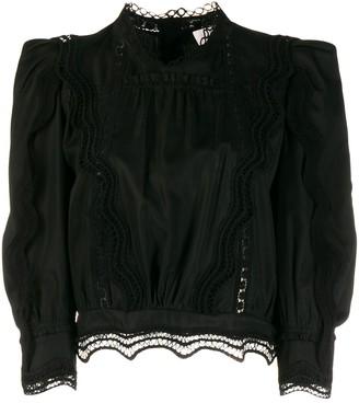 IRO Avil lace trim blouse