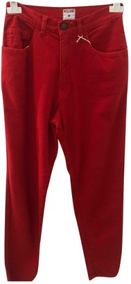 Moschino Cheap & Chic Moschino Cheap And Chic Red Cotton Trousers for Women