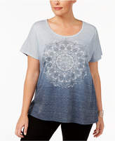 Style&Co. Style & Co Plus Size Embellished Graphic Top, Created for Macy's