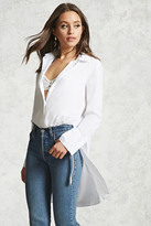 Forever 21 FOREVER 21+ Self-Tie High-Low Tunic