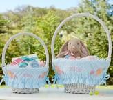 Pottery Barn Kids Blue Dot Ruffle Easter Basket Liners
