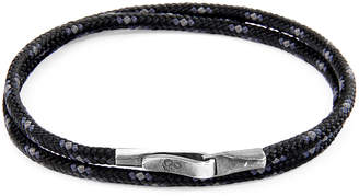 Anchor & Crew ANCHOR & CREW Black Liverpool Silver And Rope Bracelet