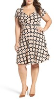 Leota Plus Size Women's Faux Wrap Jersey Dress