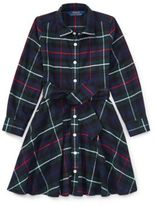 Ralph Lauren Tartan Flannel Cotton Dress Royal Tartan 4T