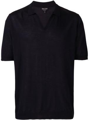 Giorgio Armani Open Collar Polo Shirt