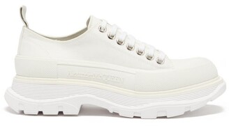 Alexander McQueen Hybrid Slick Chunky-sole Canvas Trainers - White