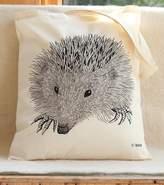 Bird Hedgehog Print Tote Bag