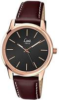 Limit Men's Quartz Watch with Black Dial Analogue Display and Brown Polyurethane Strap 5528.01