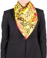 Versace Women's Medusa Head Cheetah Pattern Silk Scarf.