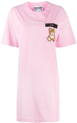 Moschino Tulle Applique Cotton T-Shirt Dress