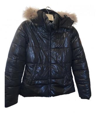 Bel Air Black Polyester Coats