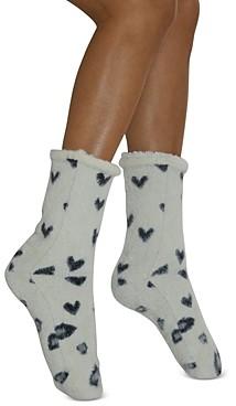 Cejoli Leopard Love Faux Fur Slipper Socks