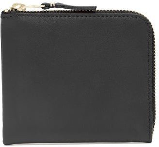 Comme des Garcons Classic Zipped Leather Wallet - Womens - Black