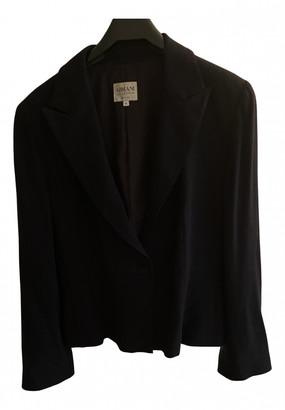Armani Collezioni Black Polyester Jackets
