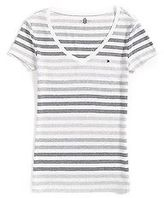 Tommy Hilfiger Women's Short Sleeve Stripe Tee