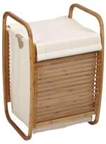 Household Essentials Bowed Bamboo Laundry Hamper with Lid - Natural