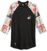 Lrg Men's Raglan-Style Graphic-Print Shirt