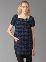 Scribble Houndstooth Dress