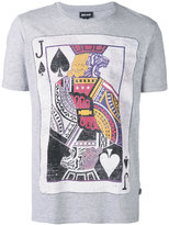 Just Cavalli printed playing card T-shirt