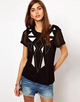Vero Moda Very Very By T-Shirt With Geo-Tribal Print
