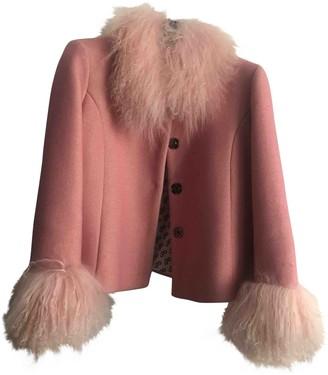 Saks Potts Pink Wool Jacket for Women