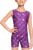 Danskin Purple Spiral Biketard - Girls