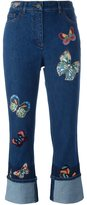 Valentino 'Jamaica Butterflies' embroidered jeans - women - Polyester/Spandex/Elastane/Cotton - 25