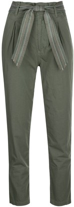 Sundry tie waist Paperbag trousers