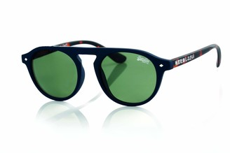 Superdry Unisex-Adult Round High-Brow Frame Non Polarized Sunglasses