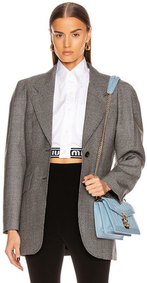 Miu Miu Padded Blazer in Grey | FWRD