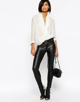 Vila leather look pants