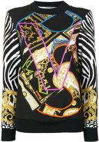 Versace baroque branded sweater - women - Cotton/Polyamide/Spandex/Elastane/Viscose - 38