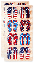 American Flip Flop Terry Velour Beach Towel (Set of 2)