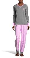 U.S. Polo Assn. Charcoal Heather & Purple Dot Pajama Set
