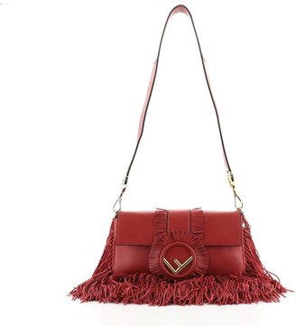 Fendi Convertible Baguette Bag Fringe Leather Medium