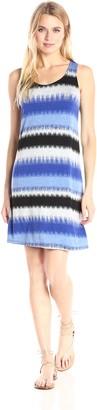 Kensie Women's Burst Stripes Sleeveless Dress