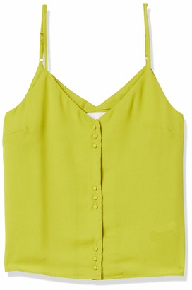 J.o.a. Women's Sleeveless Cami Tank Top with Buttons