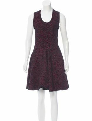 Alaia Fit and Flare Mini Dress w/ Tags Black