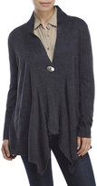 Cable & Gauge One-Button Shawl Collar Cardigan