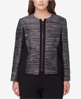 Tahari ASL Plus Size Metallic Bouclé Jacket