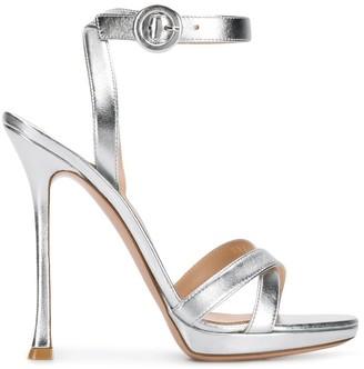 Gianvito Rossi Poppy metallic sandals