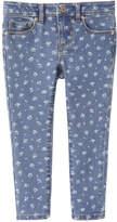 Joe Fresh Toddler Girls' Floral Denim Pant, Medium Wash (Size 4)