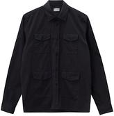 Jigsaw Garment Dyed Military Overshirt, Navy