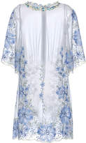 Luisa Beccaria Georgette Embroidered Mini Dress