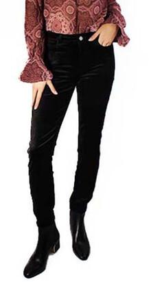 Paige Hoxton Ankle Velvet Pant - Black Overdye