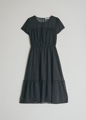 Farrow Women's Corinne Polka Dot Dress in Black, Size Small