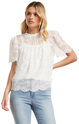 Forever New Millie Embroidered Blouse