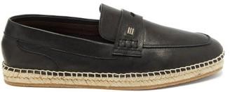 Etro Penny-loafer Leather Espadrilles - Mens - Black