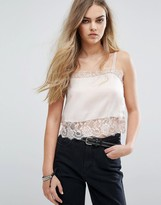 Pull&Bear Cami Top With Lace Detail
