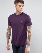 Lyle & Scott Stripe T-Shirt Regular Fit Eagle Logo in Navy
